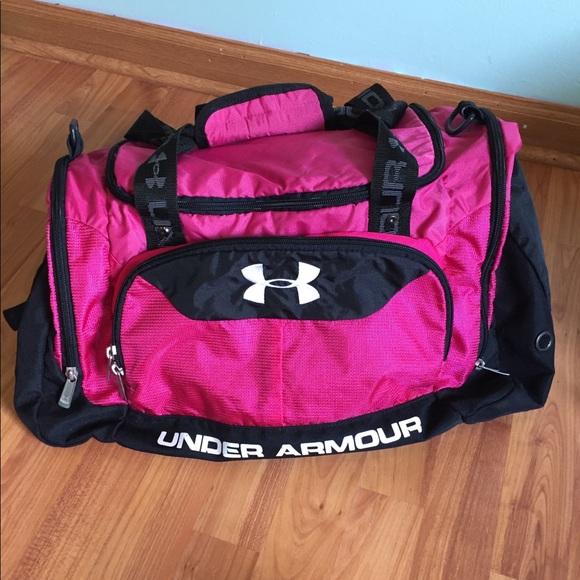 Under Armour Bags   Large Pink Black Dufflegym Bag   Poshmark b064f5e370